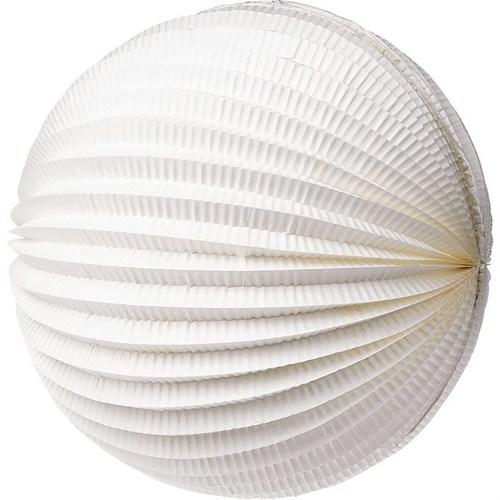 Pandoli 30 Cm Akordiyon Yuvarlak Fener Süs Beyaz Renk