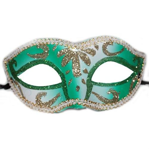 Pandoli Sim İşlemeli Mavi Renk Parti Maskesi