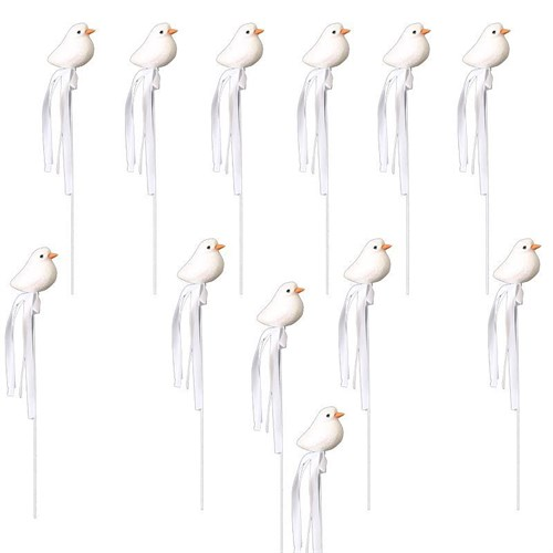 Pandoli 12 Li Stik Çubuk Dekoratif Kuş Figürü
