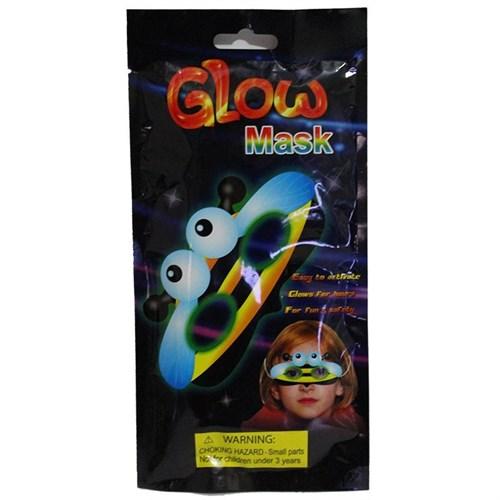 Pandoli Sarı Renk Neonlu Glow Stick Ufo Parti Maskesi
