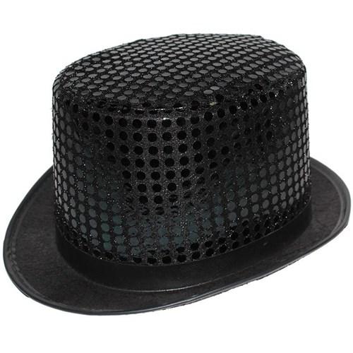 Pandoli Pullu Siyah Renk Melon Parti Şapkası