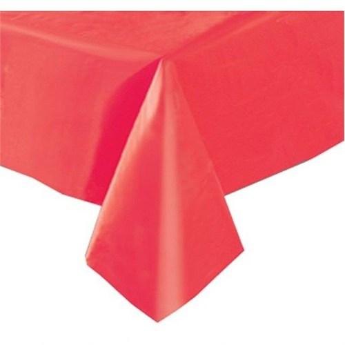 Pandoli Plastik Parti Masa Örtüsü Kırmızı Renk