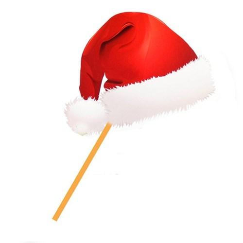 Pandoli Noel Baba Şapkası Şekilli Sopalı Noel Konuşma Pankartı