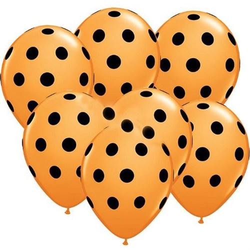 Pandoli 100 Adet Sarı Siyah Puanlı Baskılı Latex Balon