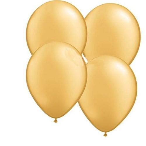 Pandoli Altın Metalik Düz Renk Sedefli 25 Adet Latex Balon