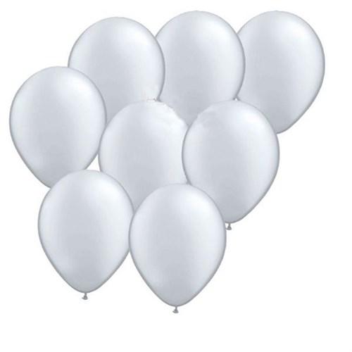 Pandoli 100 Adet Gümüş Metalik Düz Renk Sedefli Latex Balon