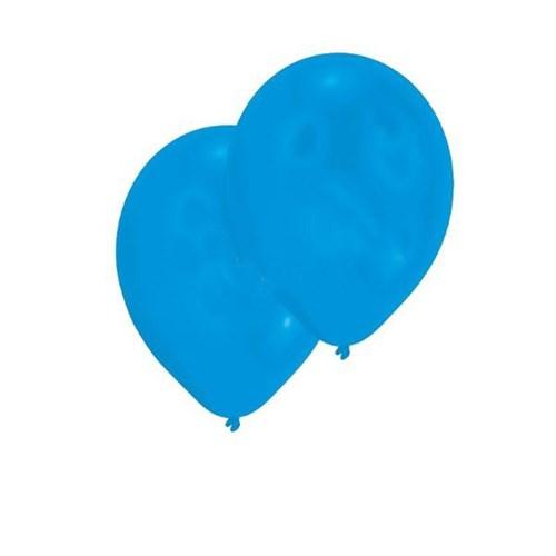 Pandoli Koyu Mavi Lacivert Metalik Düz Renk 10 Adet Sedefli Latex Balon