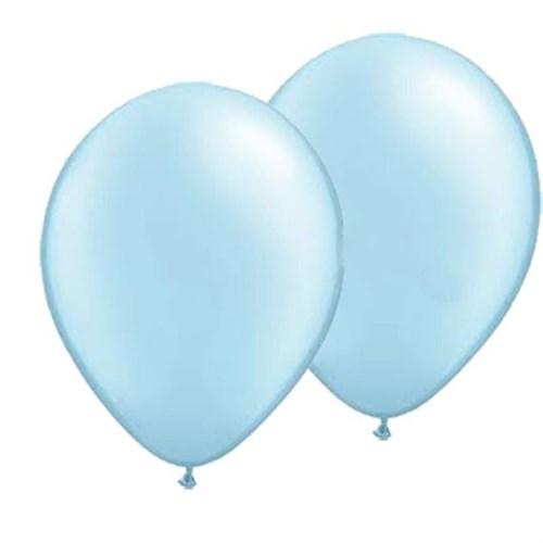 Pandoli 10 Adet Bebek Mavisi Metalik Düz Renk Sedefli Latex Balon