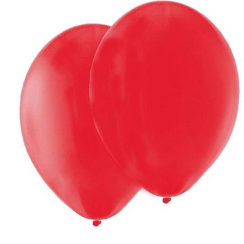 Pandoli Kırmızı Metalik 10 Adet Düz Renk Sedefli Latex Balon