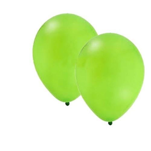 Pandoli Yeşil Metalik Düz Renk Sedefli Latex Balon 10 Adet