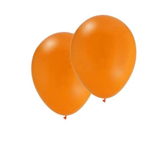 Pandoli 10 Adet Orange Metalik Düz Renk Sedefli Latex Balon