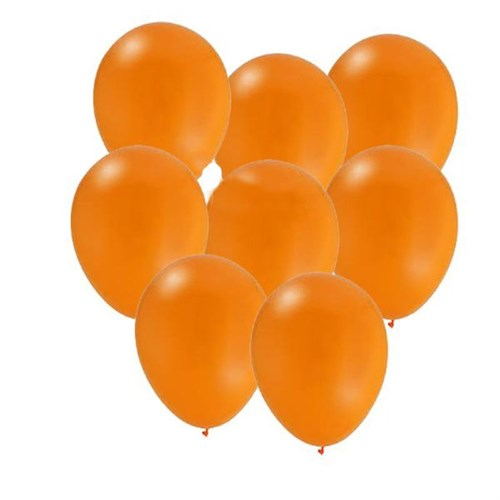 Pandoli Turuncu Metalik Düz Renk Sedefli Latex Balon 100 Adet