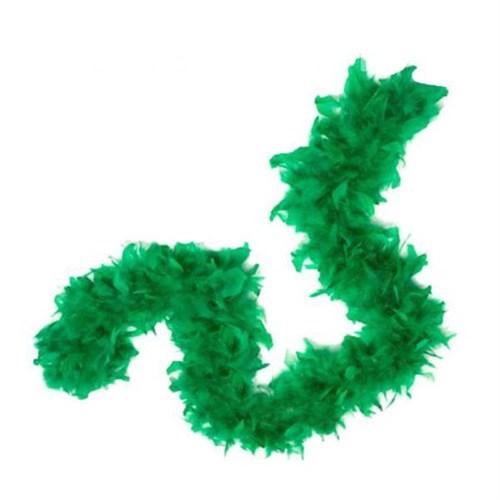 Pandoli 6 Cm Yeşil Renk Tüylü Kalın Otriş Boa 2 Metre