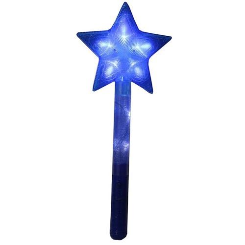 Pandoli Mavi Renk Yıldız Şekilli Işıklı Peri Asası
