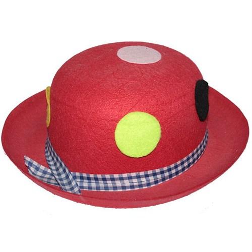 Pandoli Puanlı Kırmızı Renk Eğlenceli Parti Şapkası