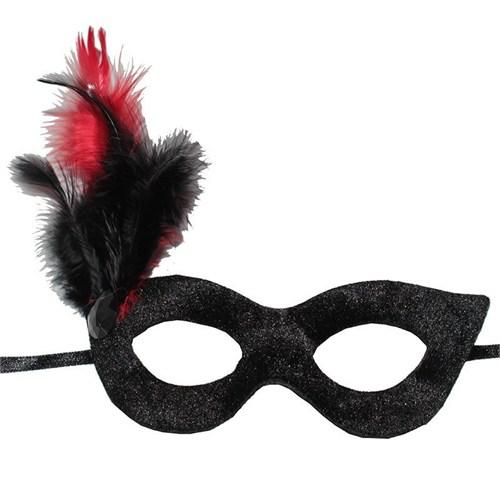 Pandoli Siyah Tüylü Parti Maskesi