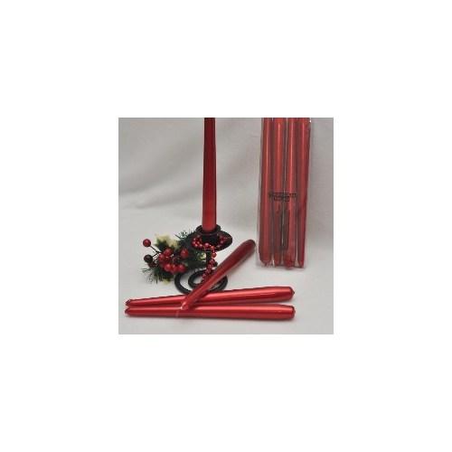 Horizon Mum Şamdan Mum 4 Lü Metalik Kırmızı