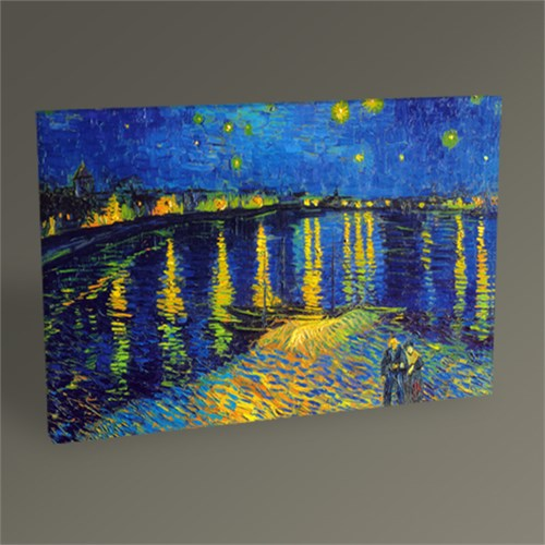 Tablo 360 Vincent Van Gogh-Rhone Nehrinde Yıldızlı Gece Tablo 45X30