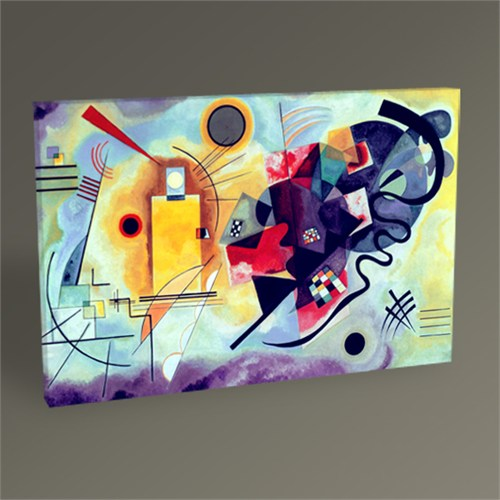 Tablo 360 Wassily Kandinsky Yellow Red And Blue Tablo 45X30