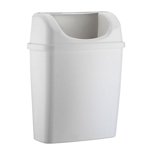 Rulopak Duvara Monte Plastik Çöp Kovası (Beyaz)
