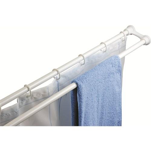 Doğuş 2Li Banyo Perde Borosu Ve Havlu Askısı Set