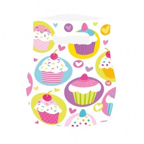Parti Paketi Sweat Cupcake Partisi Hediye Poşeti 6'Lı