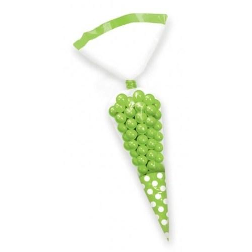 Parti Paketi Kivi Yeşili Külah Şeker Torbası 10'Lu