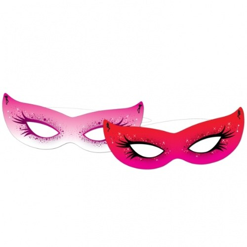 Parti Paketi İyi Kız/Kötü Kız Göz Maskeleri 6'Lı