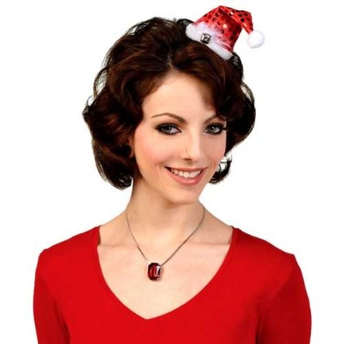 Parti Paketi Santa Mini Şapka Klipsli