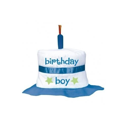 Parti Paketi 1 Yaş Erkek Doğum Günü Pasta Şapka