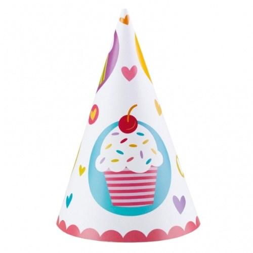 Parti Paketi Sweat Cupcake Parti Şapkası 6'Lı