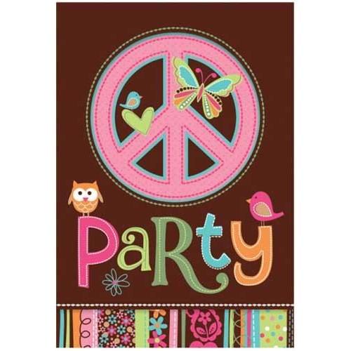 Parti Paketi Hippie Chick Davetiye