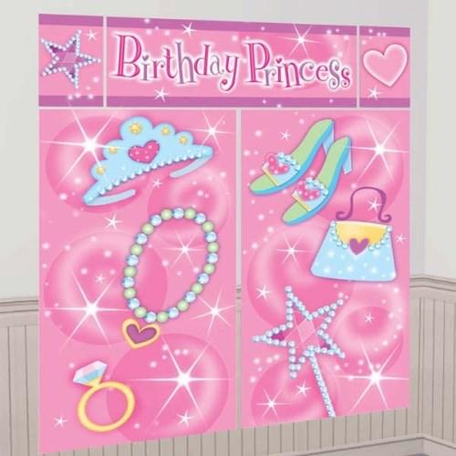 Parti Paketi Süslü Prenses Doğumgünü Duvar Dekoru