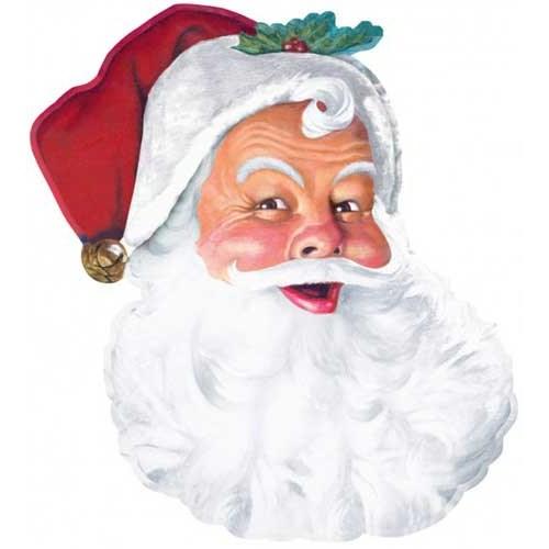 Parti Paketi Noel Baba'nın Başı Duvar Dekoru