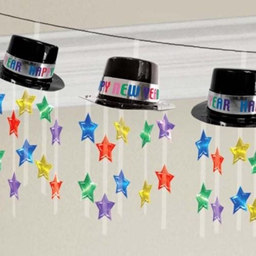 Parti Paketi Yılbaşı Şapkaları İp Garlent