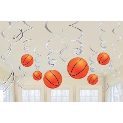 Parti Paketi Basketbol Süs Dalgaları 12'Li