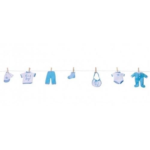 Parti Paketi Erkek Bebek Eşyaları Çamaşır İpi