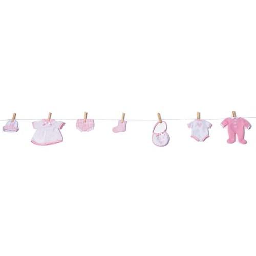 Parti Paketi Kız Bebek Eşyaları Çamaşır İpi