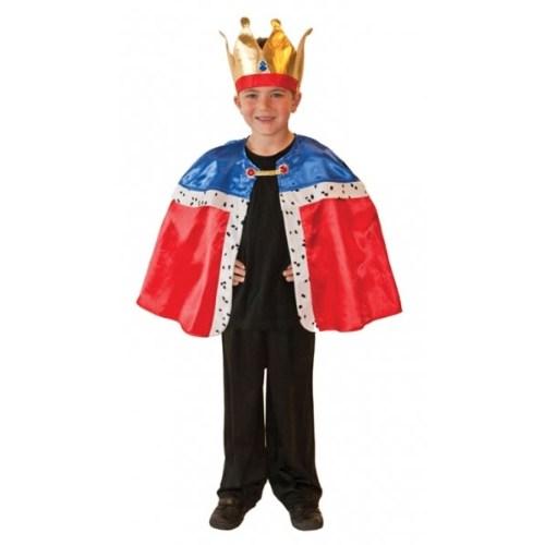 Parti Paketi Kral Kostümü Pelerin / Taç 3-7 Yaş