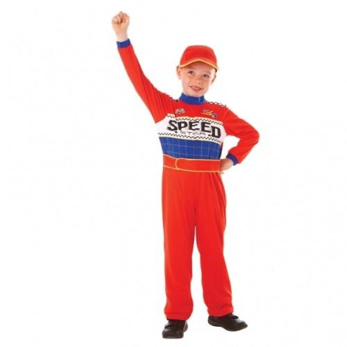 Parti Paketi Araba Yarışçısı Kostümü 6-8 Yaş