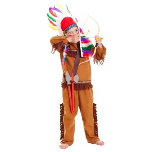 Parti Paketi Kızılderili Kostüm Ve Aksesuar Seti 3-6 Yaş