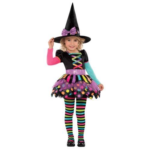 Parti Paketi Süslü Cadı Kostümü 3-4 Yaş