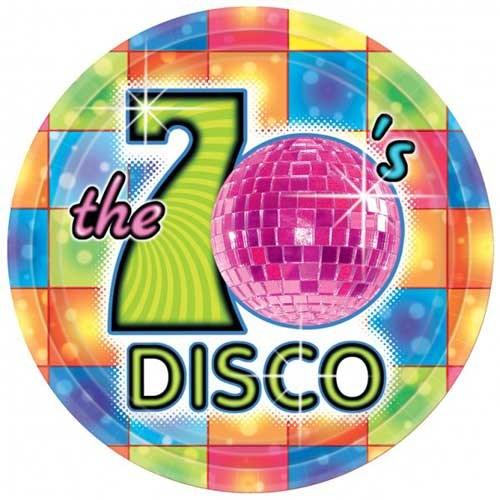 Parti Paketi 70'Ler Disco Açık Büfe Tabağı 8'Li