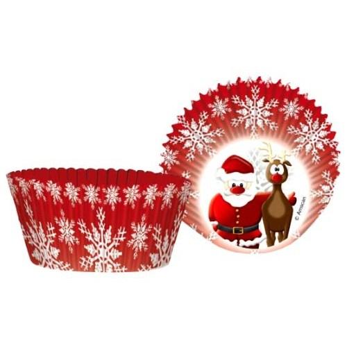 Parti Paketi Noel Baba Cupcake Kağıdı 50'Li