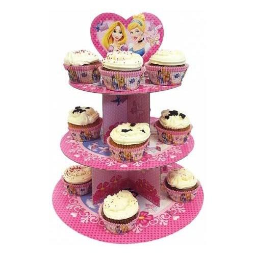 Parti Paketi Disney Prensesler Cupcake Standı