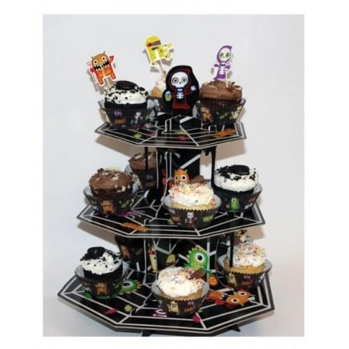 Parti Paketi Boo Monsters Cupcake Standı