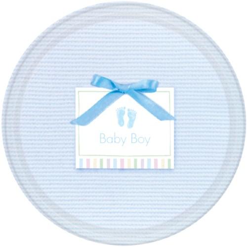 Parti Paketi Bebeğim Mavi Büyük Tabak 8'Li