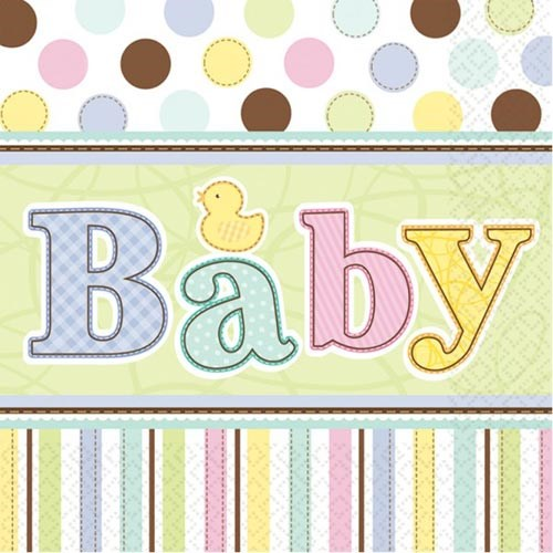 Parti Paketi Hoşgeldin Bebeğim Peçete 36'Lı