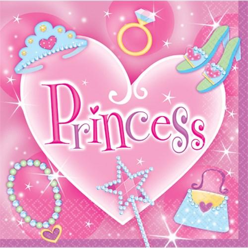 Parti Paketi Süslü Prenses Büyük Peçete