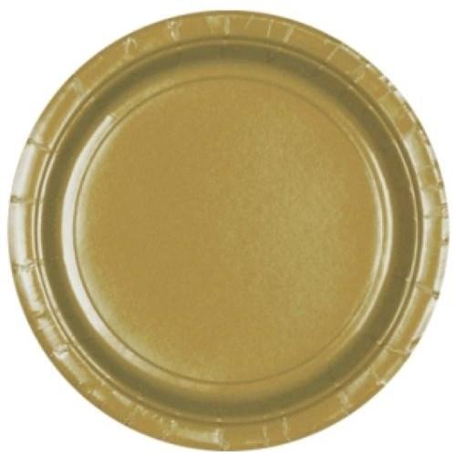 Parti Paketi Altın Büyük Tabak 8'Li